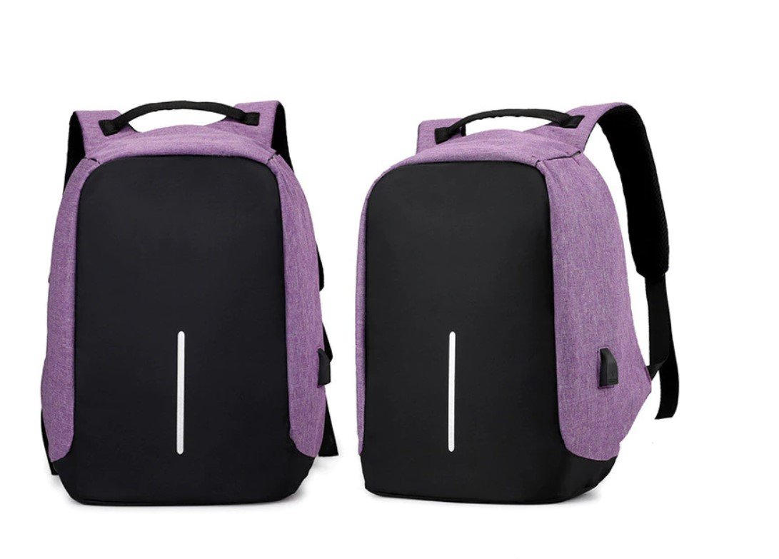 Anti-theft USB Backpack with Reflective Detail