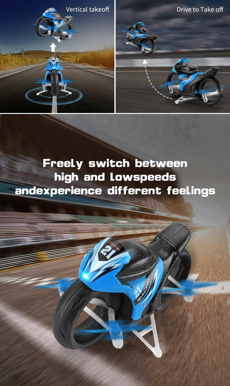 2 in 1 High Speed Motorcycle Toy with Remote Control